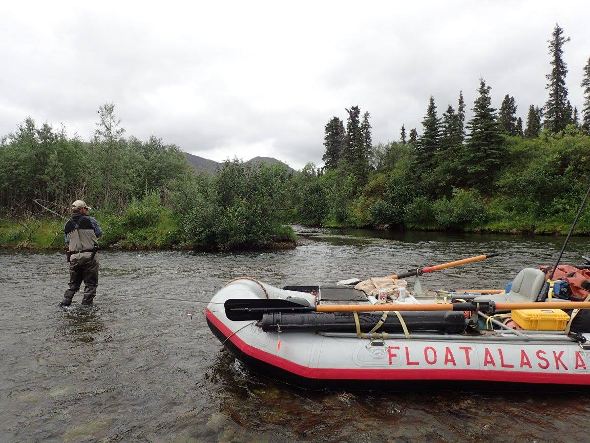 Float alaska southwest alaska my alaskan fishing trip for Fly fishing raft