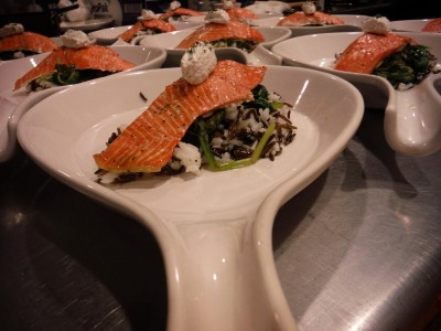 Fresh Alaska salmon is commonplace in our dining room.