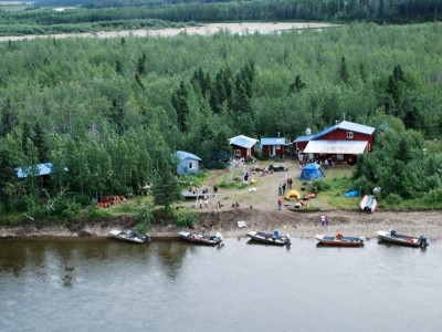 Aerial view of the Camp