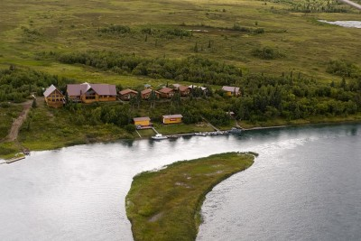 Aerial view of the lodge