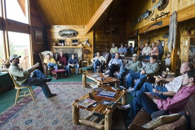 Inside the Main Lodge for Orientation