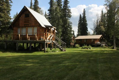 Guest Cabin with the Main Lodge in the background