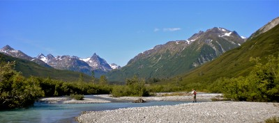 Remote Alaska fishing experience