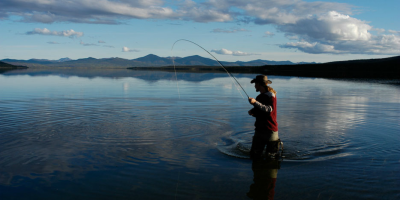 Fly Fishing on Iniakuk Lake