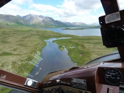 Flying into the Kanektok River