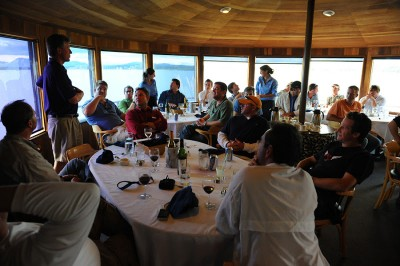 Dining at Tikchik Narrows Lodge