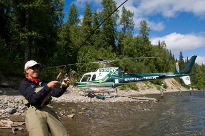 Alaska Helicopter Fly Fishing
