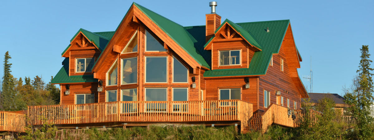 Beautiful new lodge built in 2014 situated on the shores of Lake Iliamna