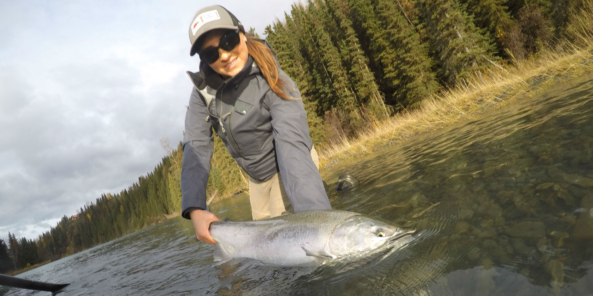 Fall Fishing for Silver Salmon with Cooper Landing Fishing Guide