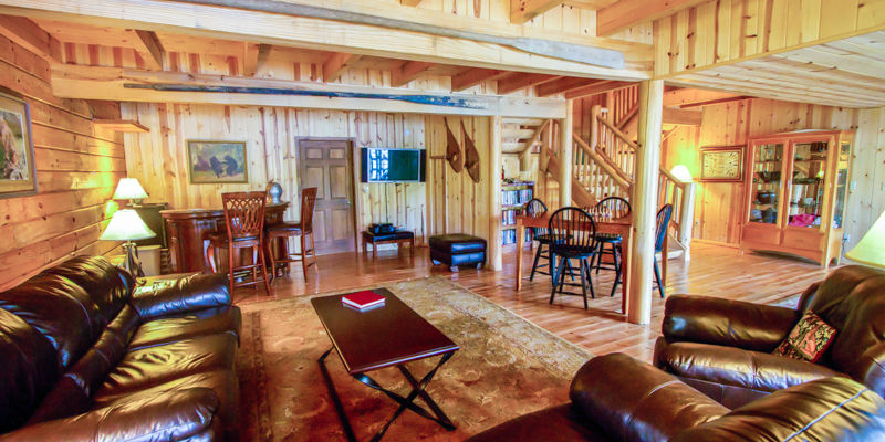 Main Lodge Interior at Kodiak Island Resort