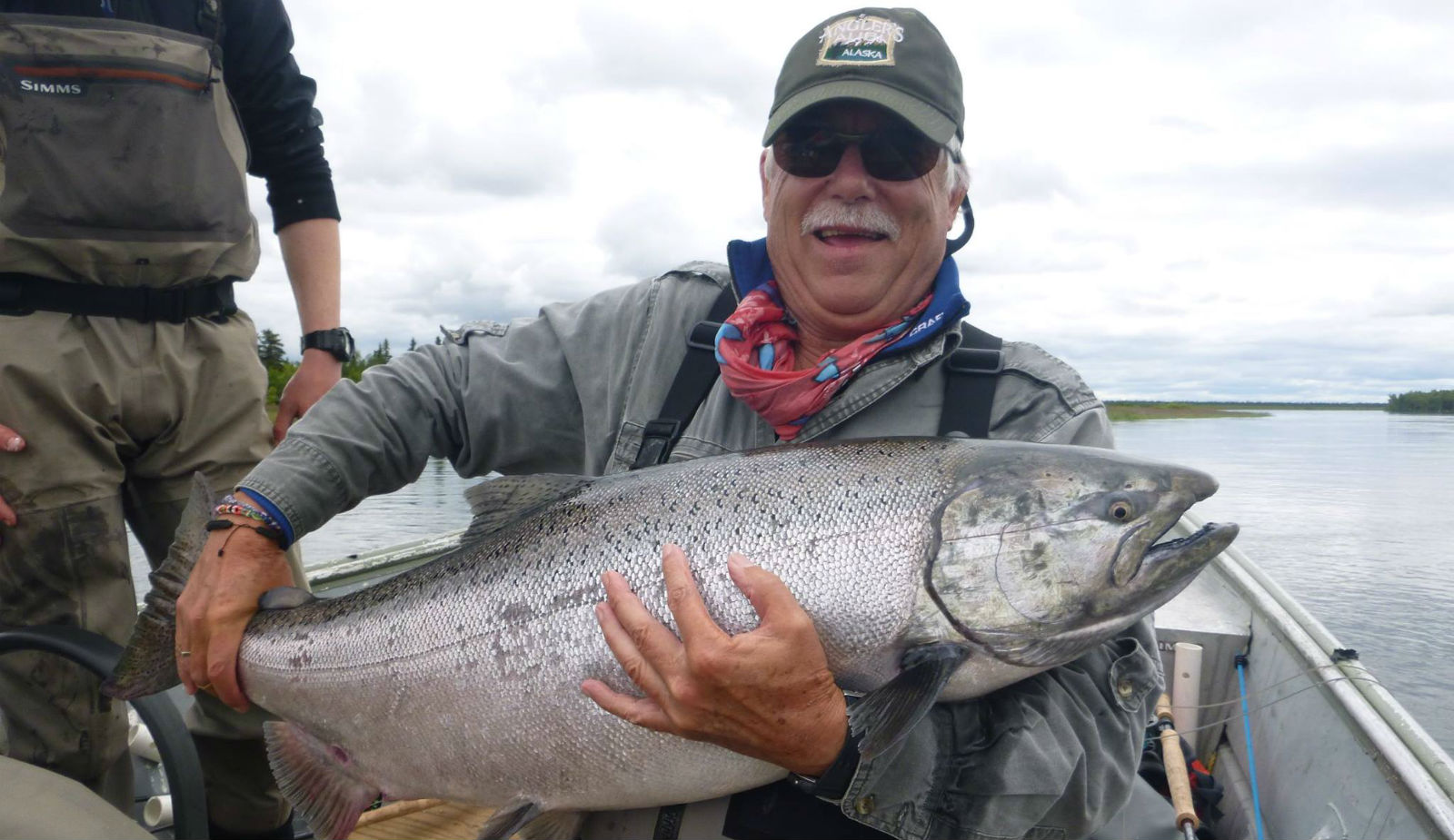 King Salmon caught at Angler's Alibi Lodge - Alagnak River, Alaska
