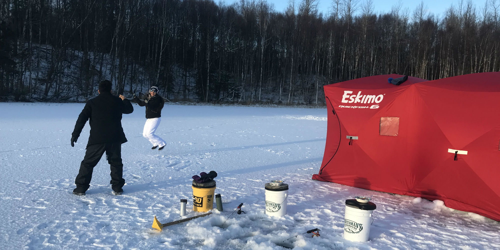 Guided Ice Fishing in Alaska