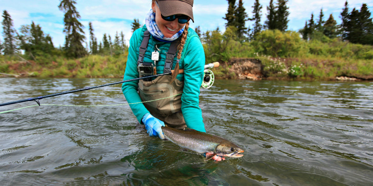 Dolly Varden caught at Angler's Alibi Lodge - Alagnak River, Alaska